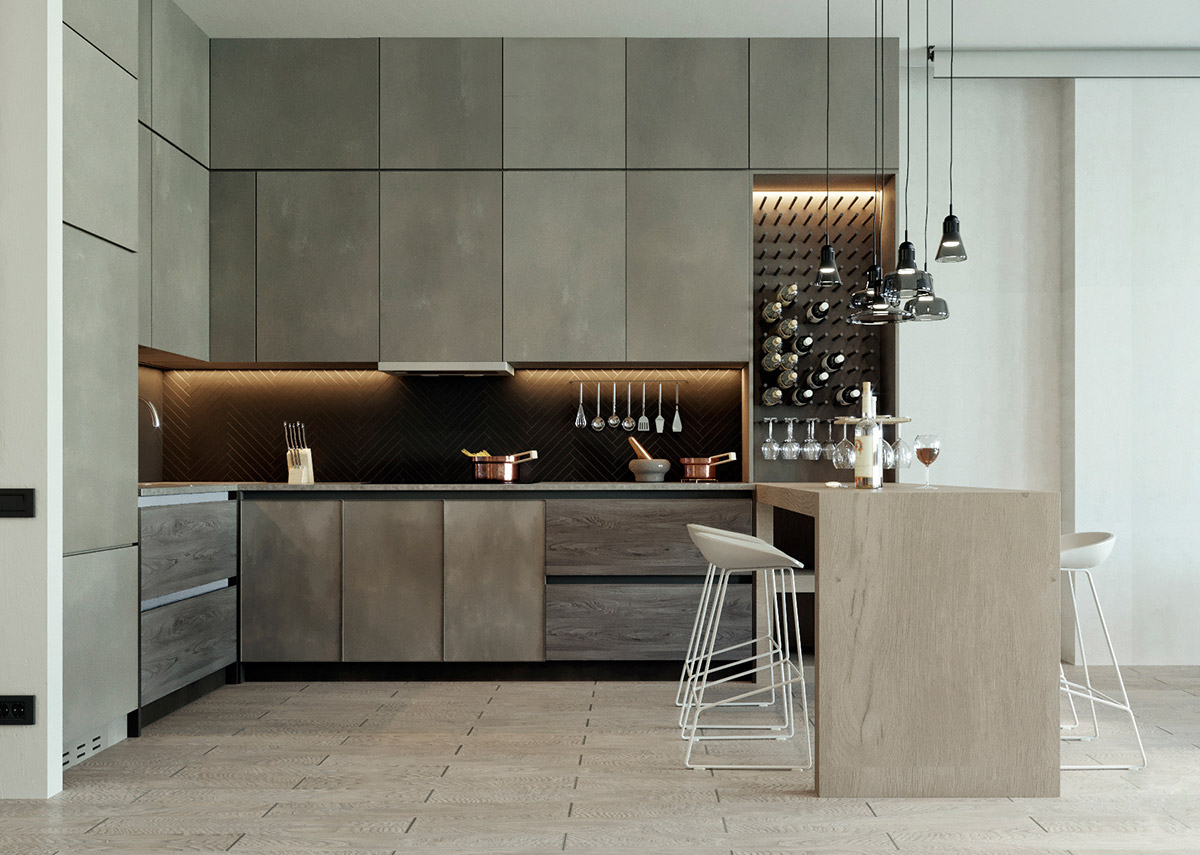 Homesscope Interior Design Kitchen Design Inspiration