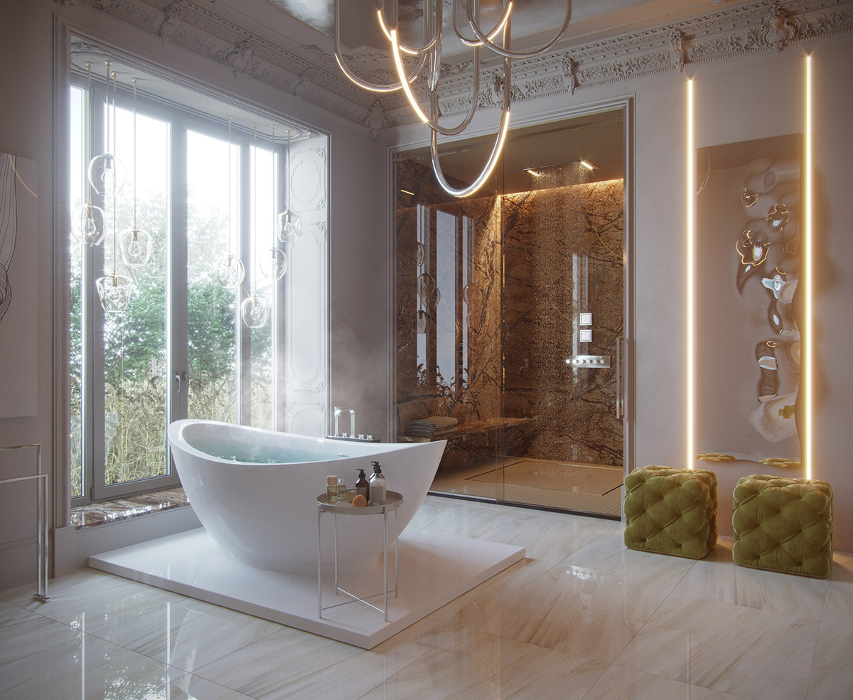 Homesscope Interior Design Luxury Bathroom